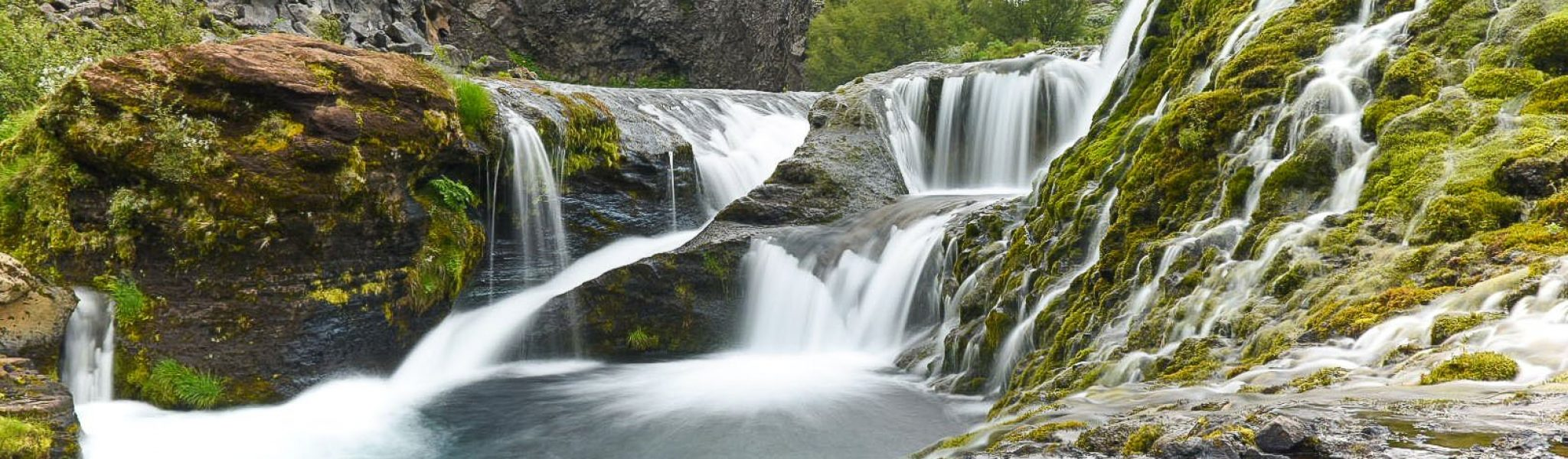 waterfall-over-rocky-shores